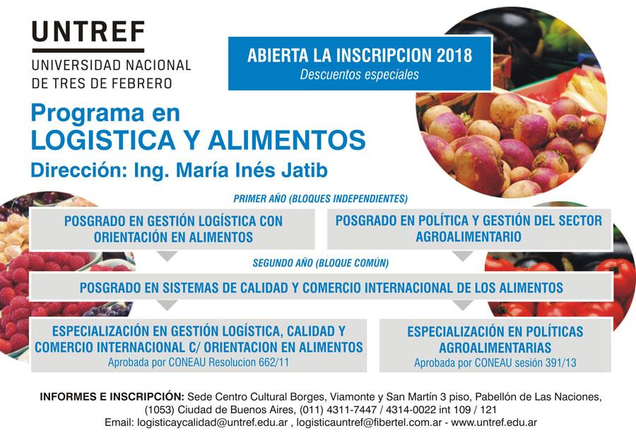 Programa en Logistica y Alimentos - UNTREF